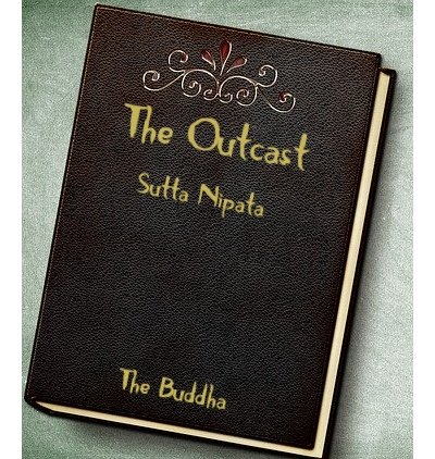 Leather book cover with The Outcast written in gold