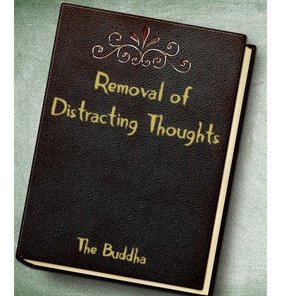 Leather book Cover with Removal of Distracting Thoughts as title