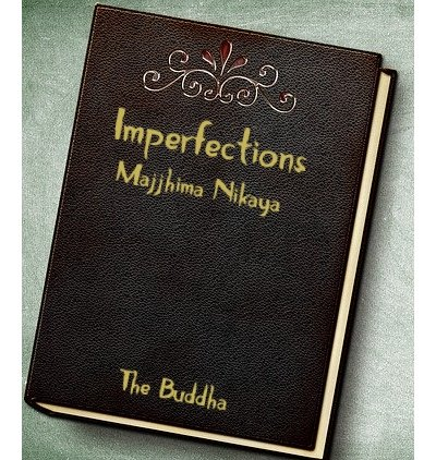 Leather book Cover with Imperfections as title